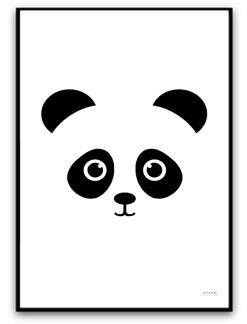 Panda - Svart A4 matt fotopapper