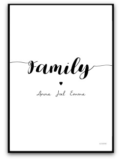 Poster - Family - A4 matt fotopapper