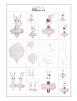 Posters till dockhus - Ballerina bunny and friends prints