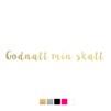 Wall stickers - Godnatt min skatt - Guld