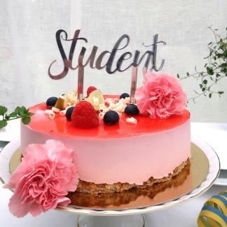 Studentskylt - Silver -