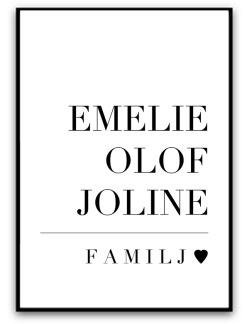 Poster - Familj - A4 matt fotopapper