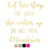 Wall stickers - Let her sleep - Guld