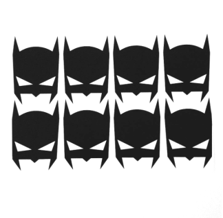 Wall stickers - Stora Batman ikoner - Svart