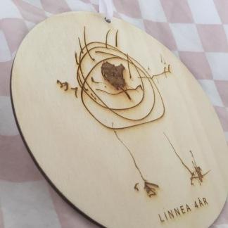Träskylt - Egen barnteckning -