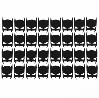 Wall stickers - Små Batman ikoner - Svarta