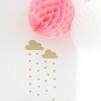 Wall stickers - Regnmoln med hjärtan - Vit