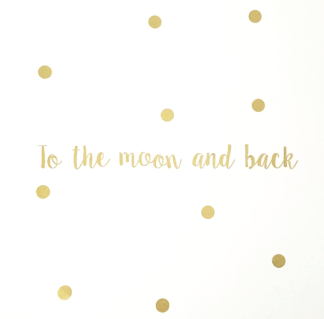 Wall stickers - To the moon and back - 25cm Guld