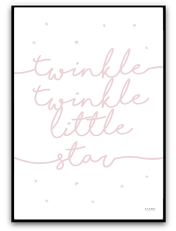 Twinkle twinkle little star - Dimrosa A4 matt fotopapper
