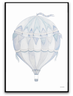 Blue air balloon - A4 matt fotopapper