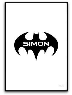 Batman med egen text - A4 matt fotopapper