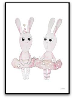 Ballerina bunnys - A4 matt fotopapper