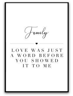 Poster - Family, love was.. - A5 matt fotopapper