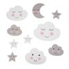 Wall stickers - Moln & stjärnor