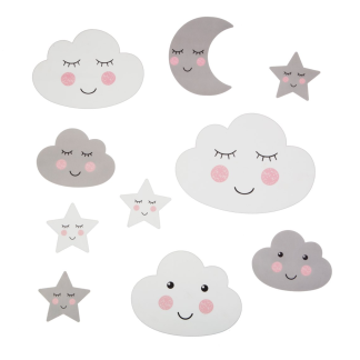 Wall stickers - Moln & stjärnor -
