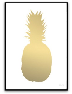 Ananas - Guld - A5 matt fotopapper