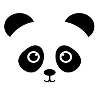 Wall stickers - Panda - Svart
