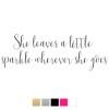 Wall stickers - She leaves a little.. - Svart