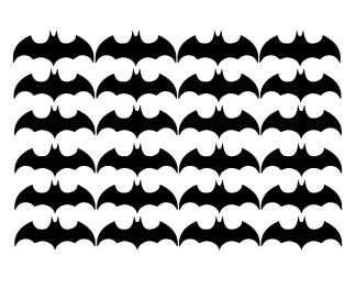 Wallstickers - Bat - Svart