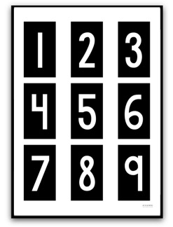 Poster - Siffror - A5 matt fotopapper