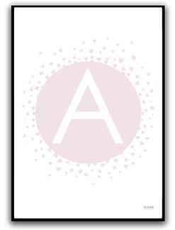 Poster - Välj egen bokstav - A4 matt fotopapper
