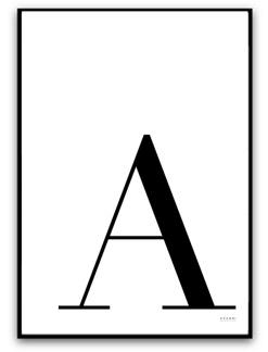 Välj egen bokstav - A4 matt fotopapper