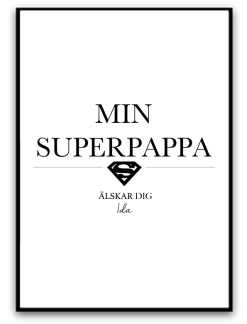 Min superpappa - A4 matt fotopapper