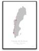 Poster - Kärlekskarta - A3 glansigt fotopapper (RÖD)