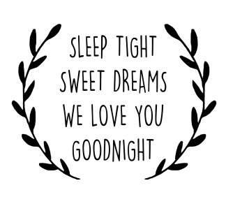Wall stickers - Sleep tight - Svart