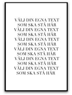 Poster - Egen text - A5 matt fotopapper