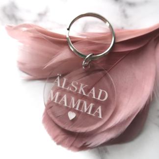 Nyckelring - Älskad mamma -