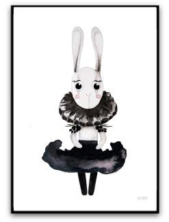 Poster - Esmeralda bunny - A4 matt fotopapper