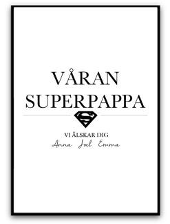Våran superpappa - A4 matt fotopapper
