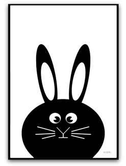 The bunny - A4 matt fotopapper, svart