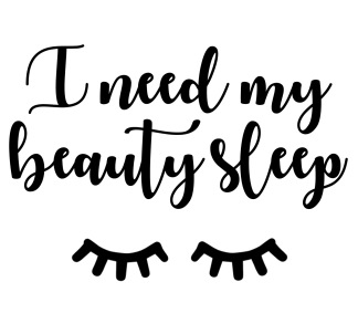 Wall stickers - I need my beauty sleep - Svart