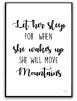 Poster - Let her sleep - svart text A3 matt fotopapper