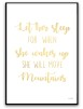 Poster - Let her sleep - Guld text A4 matt fotopapper