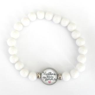 Världens bästa mamma - vitt armband