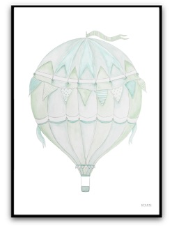 Green air balloon - A4 matt fotopapper