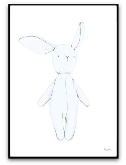 Blue bunny - A4 matt fotopapper