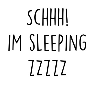 Wall stickers - Schhh! Im sleeping - Svart