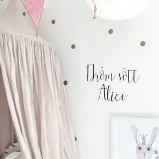 Wall stickers - Dröm sött med eget namn - Svart