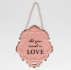 Skylt - All you need is love - Rosa