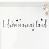 Wall stickers - I drömmarnas land - Svart