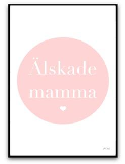 Älskade mamma - A5 matt fotopapper