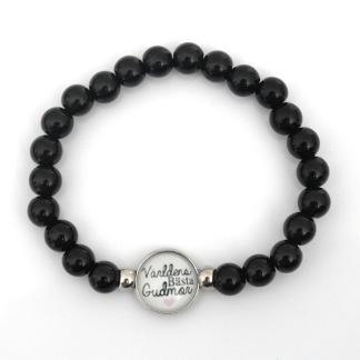 Världens bästa gudmor  - Svart armband