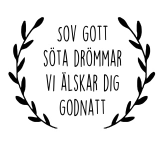 Wall stickers - Sov gott - Svart