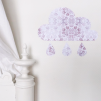 Wall stickers - Blommigt moln - Dimrosa