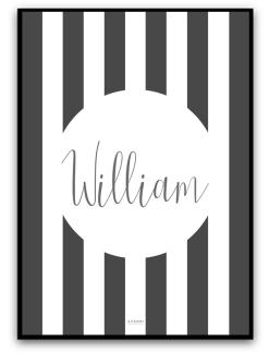 Poster - Namnbild - A4 matt fotopapper