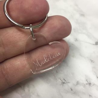 Nyckelring - Hjärta, egen text